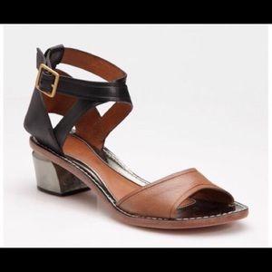 NWOB Leifsdottir Maija Metallic Heel Sandals